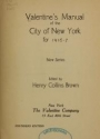 """Cover of """"Valentine's manual of the city of New York"""""""