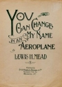 "Cover of ""You can change my name in an aeroplane"""