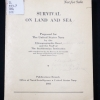 Cover of Survival on land and sea