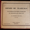 Lienzo de Tlaxcala (1939 reproduction) cover page