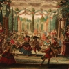 [Garden scene with dancers, to be used as the set for a miniature theater] [graphic]
