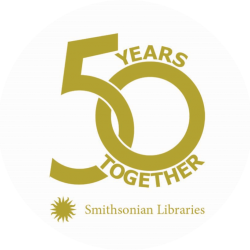Smithsonian Libraries 50th Anniversary Logo