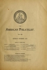 """Cover of """"The American philatelist"""""""