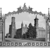 A photo of the Smithsonian Castle