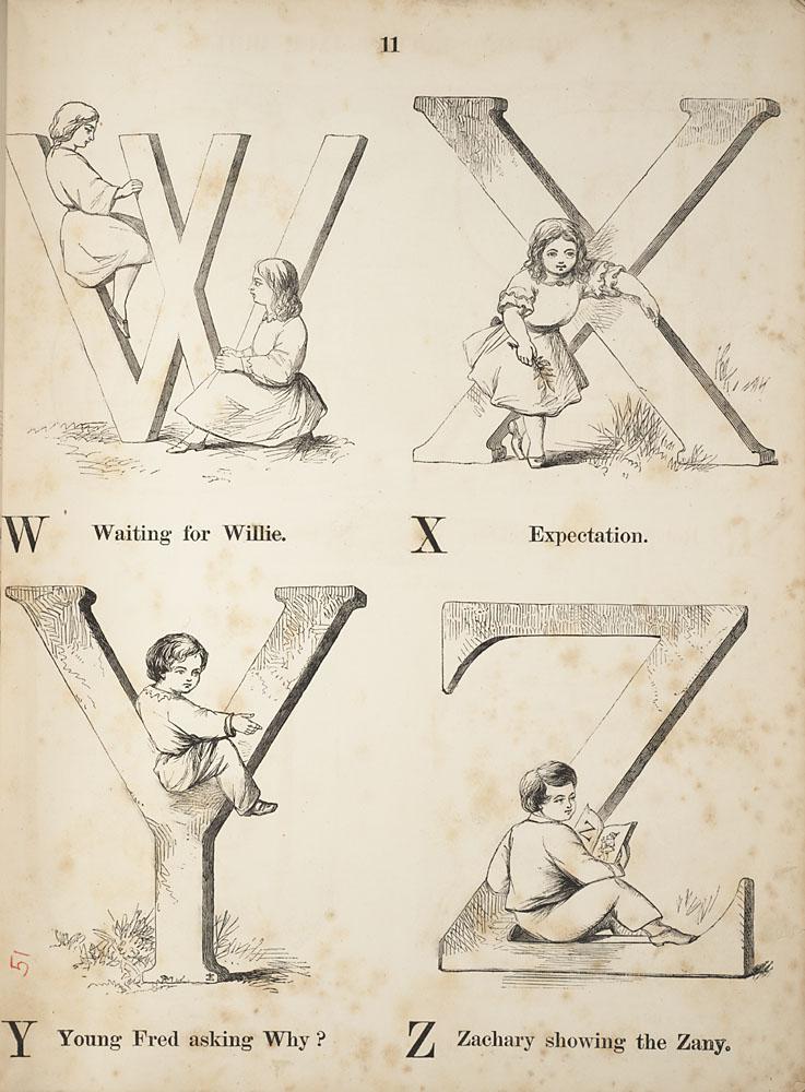Letter block W X Y Z