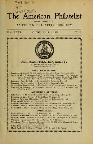 The American philatelist v  26 1912/13