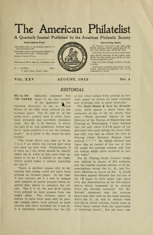 The American philatelist v  25: no  4 Aug  1912