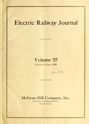 Electric Railway Journal