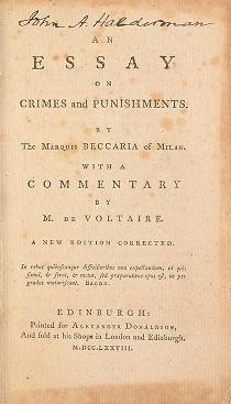 an essay on crimes and punishments beccaria summary