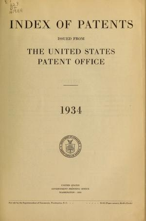 Index of patents issued from the United States Patent Office 1934