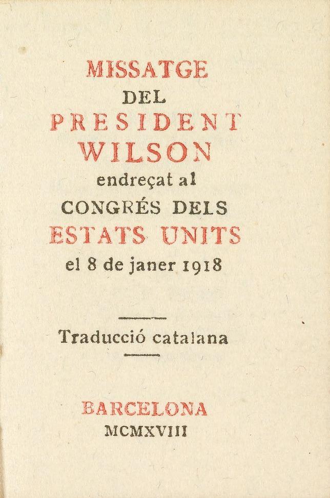 Missatge del President Wilson
