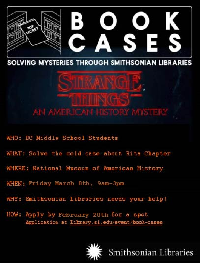 Flyer for Strange Things Book Cases