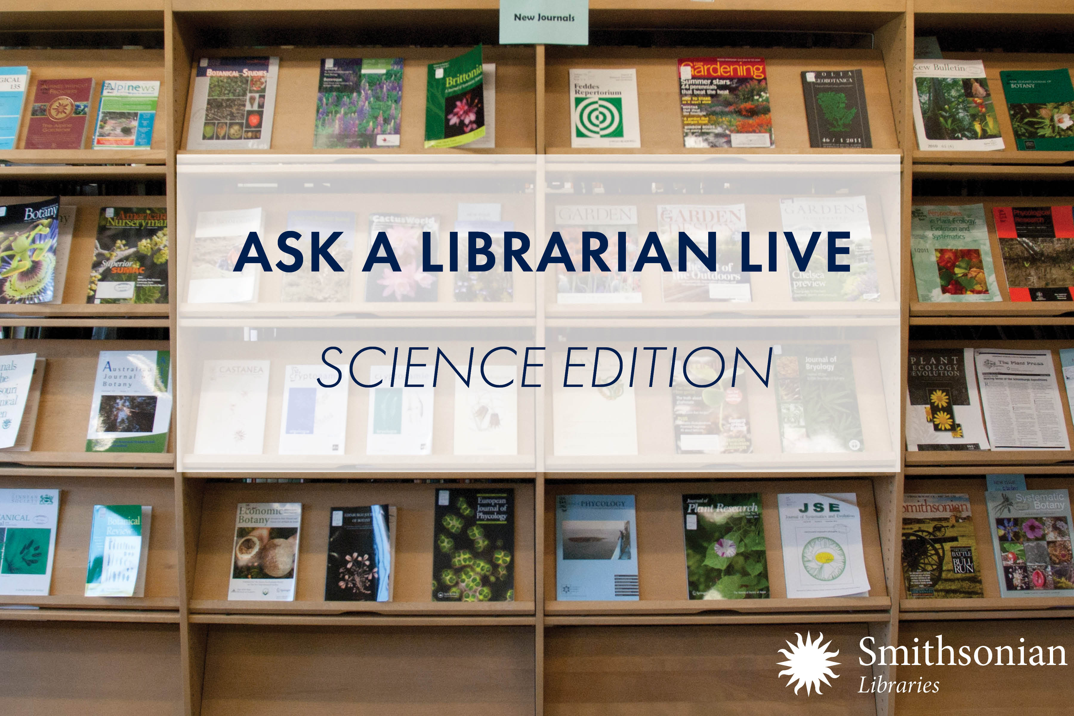 Ask a Librarians Live: Science Edition