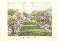 image of lawn bordered by spring flowers