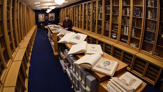 Display of Rare books within Library