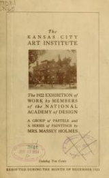 Cover of The 1922 exhibition of work by members of the National Academy of Design
