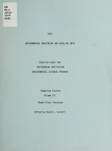 Cover of 1974 environmental monitoring and baseline data