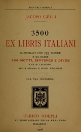 Cover of 3500 i.e. Tremila cinquecento ex libris italiani