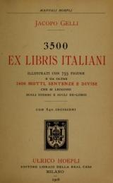 """Cover of """"3500 [i.e. Tremila cinquecento] ex libris italiani"""""""