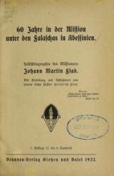 Cover of 60 [i.e. sechzig] Jahre in der Mission unter den Falaschas in Abessinien