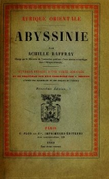 Cover of Abyssinie