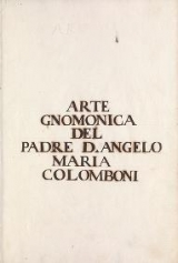 Cover of Arte gnomonica