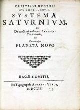 Cover of Cristiani Hugenii Zulichemii, Const. f. Systema Saturnium