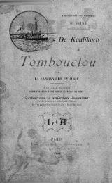Cover of De Koulikoro à Tombouctou sur la canonniere 'Le Mage.'