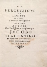 Cover of De percussione et legibus motus corporum percussorum libellus