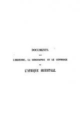 Cover of Documents sur l'histoire, la géographie et le commerce de l'Afrique orientale