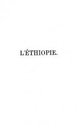 Cover of L'Éthiopie