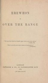 Cover of Erewhon, or, Over the range