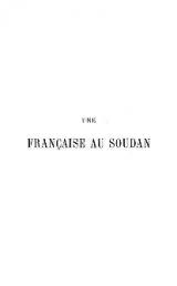 Cover of Une Française au Soudan