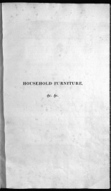 Cover of Household furniture and interior decoration