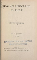 Cover of How an aeroplane is built