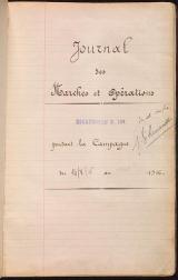 Cover of Journal des marches et opérations pendant la campagne du 14-8-16 au 9-9-17