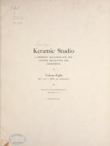 """Cover of """"Keramic studio"""""""