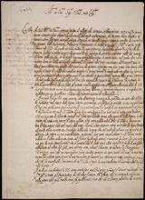 Cover of Galileo Galilei letter to Nicolas Peiresc
