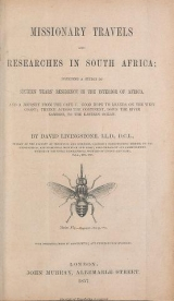 Cover of Missionary travels and researches in South Africa - including a sketch of sixteen years' residence in the interior of Africa, and a journey from the C