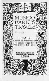Cover of Mungo Park's travels
