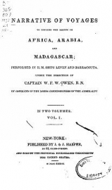 Cover of Narrative of voyages to explore the shores of Africa, Arabia, and Madagascar