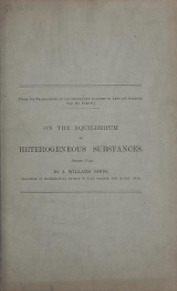 Cover of On the equilibrium of heterogeneous substances - first -second part
