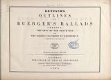 Cover of Outlines to Buerger's ballads - Leonora, the song of the brave man, and the Parson's daughter of Taubenhayn.