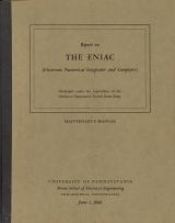 Cover of Report on the ENIAC (Electronic numerical integrator and computer)