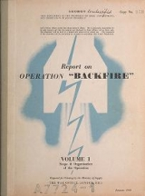 "Cover of ""Report on operation 'Backfire'"""