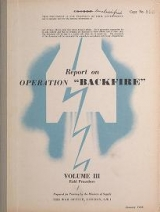 Cover of Report on operation 'Backfire'