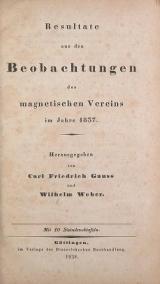 Cover of Resultate aus den Beobachtungen des Magnetischen Vereins im Jahre