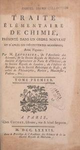 """Cover of """"Traité élémentaire de chimie"""""""