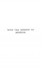 Cover of With the mission to Menelik, 1897