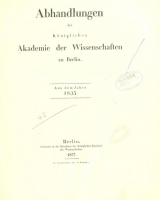 Cover of Abhandlungen der Königlichen Akademie der Wissenschaften in Berlin
